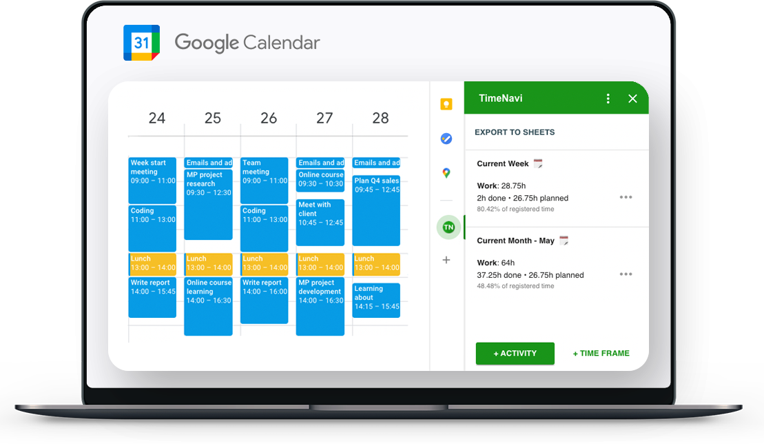 Calculate your time with Google Calendar
